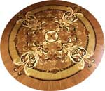 ID:509; Magic-II wood medallion