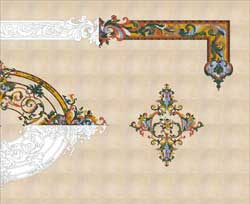 Design Plan for intricate marble inlay