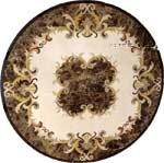 ID:429; Emperador marble medallion. Shown with rubber edge protector