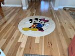 ID:602; Disney theme marble medallion installed in hardwood floors
