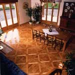 ID:453; Bordeaux parquet, white oak in the Dining Room