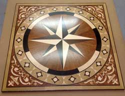 wood flooring medallion