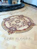 ID:479; magic wood floor medallion