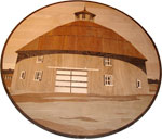 ID:308; Barn, Custom medallion made off the old lithography