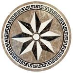 ID:327; SR8 marble medallion