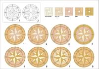 ID:56; Compass Rose Medallion Options