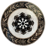 ID:328; SP18 marble medallion
