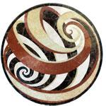 ID:326; marble Vortex medallion