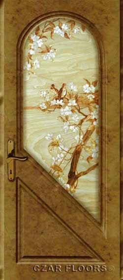 Door with Marquetry insert