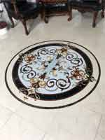 Rafael marble floor medallion installed. - ID:566