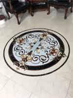 ID:566; Rafael marble floor medallion installed.