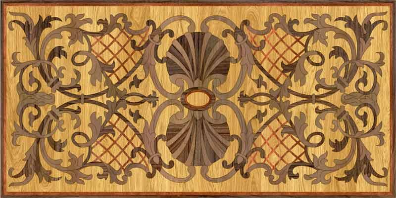 Padua Wood Floor Medallion