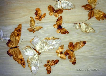 Butterflies Marquetry Veneer Inlay