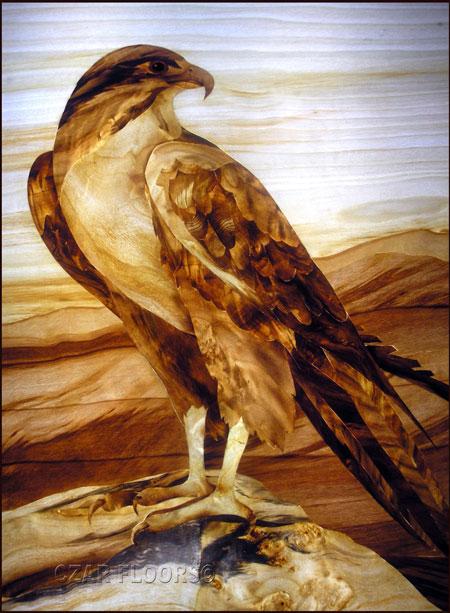 Eagle Marquetry Veneer Inlay