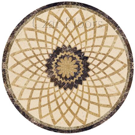 Radial Marble Floor Medallion