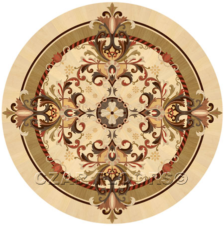 Magic Wood Floor Medallion