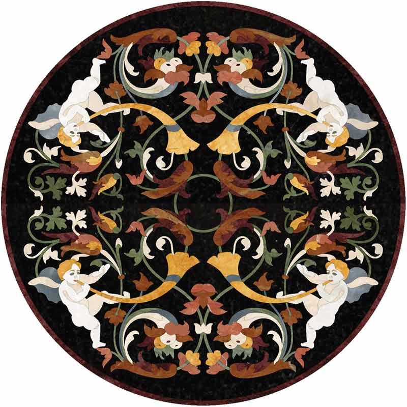 Ovid Marble Floor Medallion
