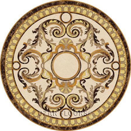 Madonna Marble Floor Medallion