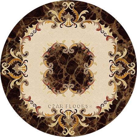 Emperador Marble Floor Medallion