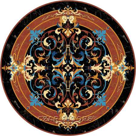 Livorno Marble Floor Medallion