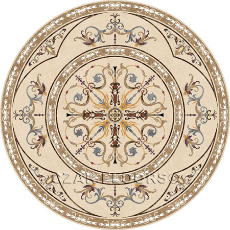 Narnia Marble Floor Medallion