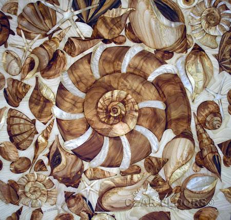 Sea World Marquetry Veneer Inlay