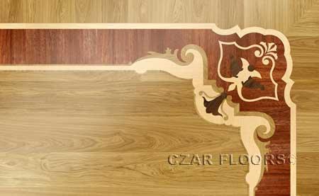 B19 Wood Floor Border