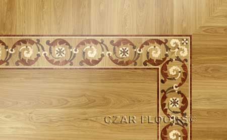B23 Wood Floor Border