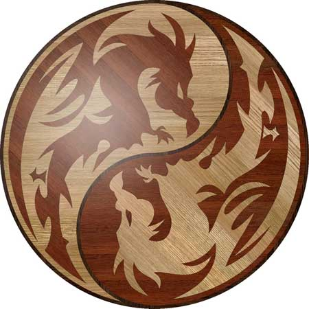 Dragons Wood Floor Medallion