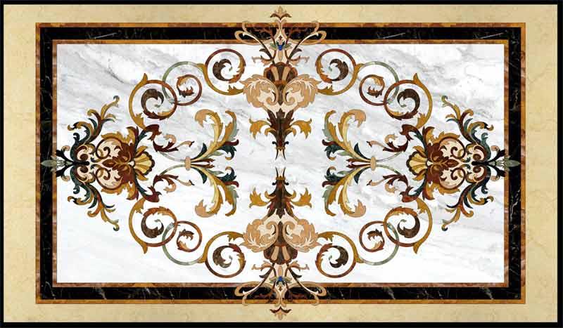 Garden Marble Floor Medallion