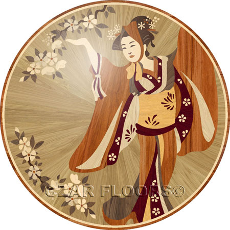 japan Wood Floor Medallion