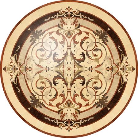 leyla Wood Floor Medallion