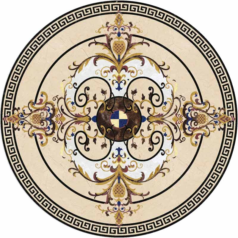 Malta Marble Floor Medallion