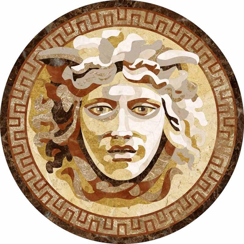 Medusa-Petri Marble Floor Medallion