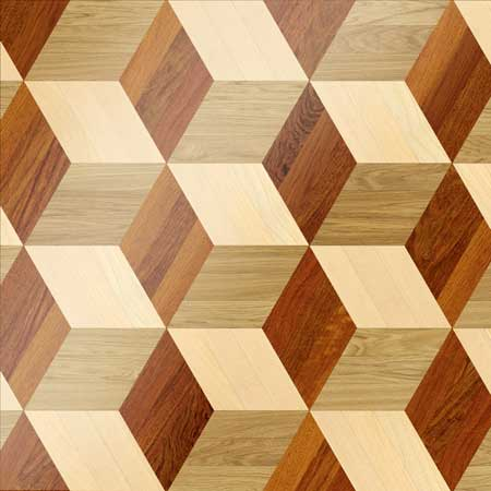 MX48 Parquet, face-taped, square edge, straight cut, unfinished