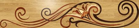Orchidea Wood Floor Medallion