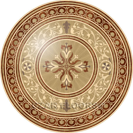 P14 Wood Floor Medallion