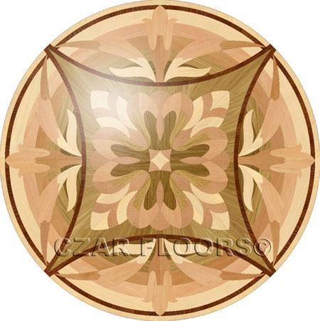 P17 Wood Floor Medallion