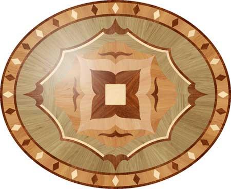 P27 Wood Floor Medallion