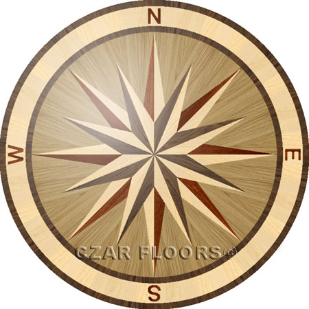 PC3B Wood Floor Medallion