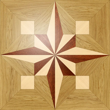 PMX13 Wood Floor Medallion
