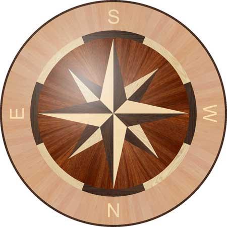 R1C Wood Floor Medallion