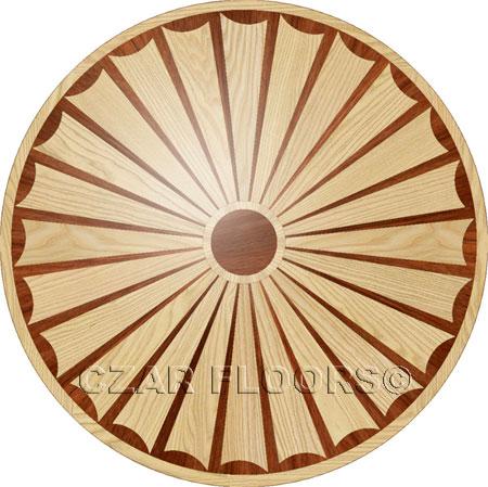 R25 Wood Floor Medallion