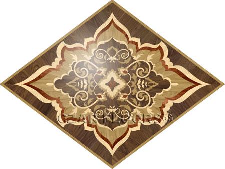 R63 Wood Floor Medallion