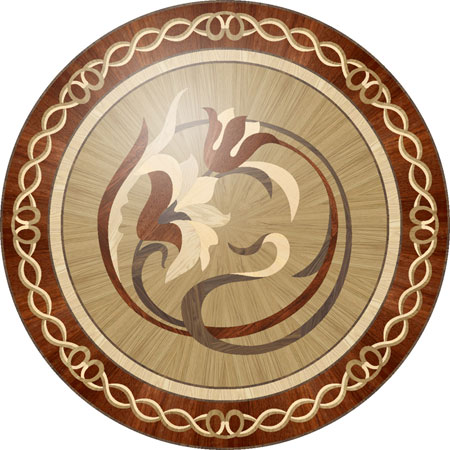 R94 Wood Floor Medallion