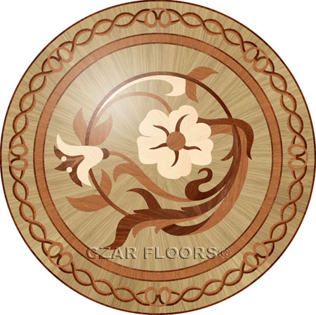 R96 Wood Floor Medallion
