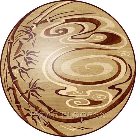 RZ221 Wood Floor Medallion