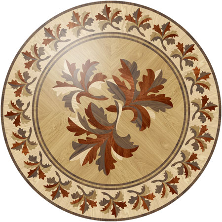 RZ077 Wood Floor Medallion