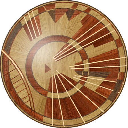 RZ202 Wood Floor Medallion