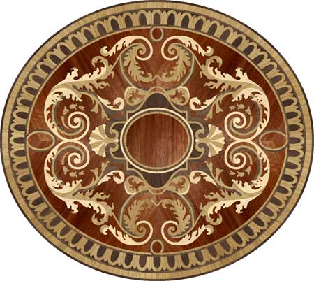 RZ260 Wood Floor Medallion